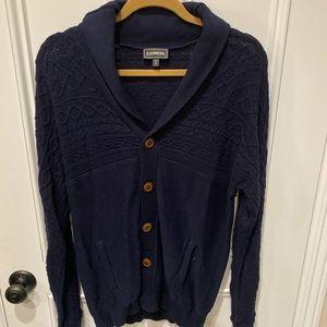Men's Navy Cardigan Sweater